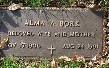 BORK, ALMA A. - Minnehaha County, South Dakota   ALMA A. BORK - South Dakota Gravestone Photos