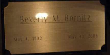BORNITZ, BEVERLY MAE - Minnehaha County, South Dakota | BEVERLY MAE BORNITZ - South Dakota Gravestone Photos