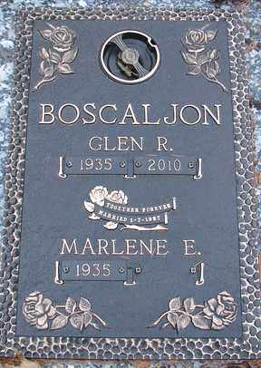 BOSCALJON, GLEN R. - Minnehaha County, South Dakota | GLEN R. BOSCALJON - South Dakota Gravestone Photos