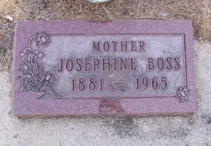 BOSS, JOSEPHINE - Minnehaha County, South Dakota | JOSEPHINE BOSS - South Dakota Gravestone Photos