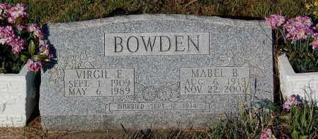 BOWDEN, VIRGIL E. - Minnehaha County, South Dakota   VIRGIL E. BOWDEN - South Dakota Gravestone Photos