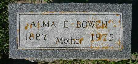 BOWEN, ALMA E. - Minnehaha County, South Dakota | ALMA E. BOWEN - South Dakota Gravestone Photos