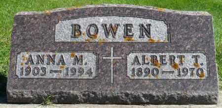 BOWEN, ANNA M. - Minnehaha County, South Dakota | ANNA M. BOWEN - South Dakota Gravestone Photos