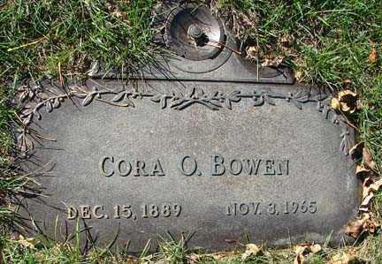 BOWEN, CORA O. - Minnehaha County, South Dakota   CORA O. BOWEN - South Dakota Gravestone Photos