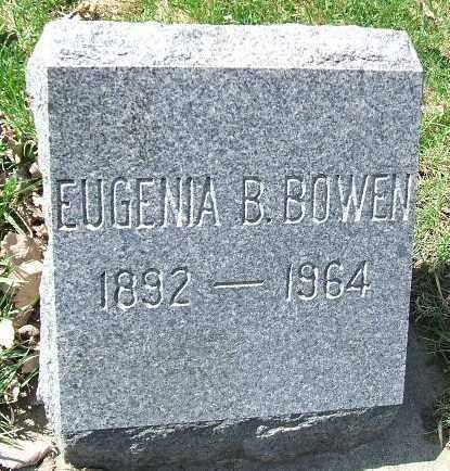 BOWEN, EUGENIA B. - Minnehaha County, South Dakota | EUGENIA B. BOWEN - South Dakota Gravestone Photos