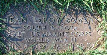 BOWEN, JEAN LEROY - Minnehaha County, South Dakota   JEAN LEROY BOWEN - South Dakota Gravestone Photos