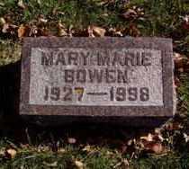 BOWEN, MARY MARIE - Minnehaha County, South Dakota   MARY MARIE BOWEN - South Dakota Gravestone Photos