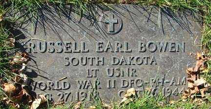 BOWEN, RUSSELL EARL - Minnehaha County, South Dakota | RUSSELL EARL BOWEN - South Dakota Gravestone Photos