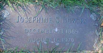 BOWERS, JOSEPHINE S. - Minnehaha County, South Dakota   JOSEPHINE S. BOWERS - South Dakota Gravestone Photos