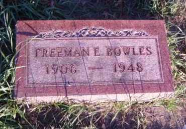 BOWLES, FREEMAN E. - Minnehaha County, South Dakota | FREEMAN E. BOWLES - South Dakota Gravestone Photos