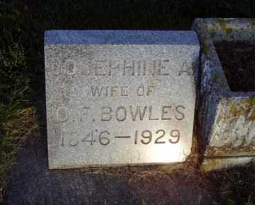BOWLES, JOSEPHINE A. - Minnehaha County, South Dakota | JOSEPHINE A. BOWLES - South Dakota Gravestone Photos