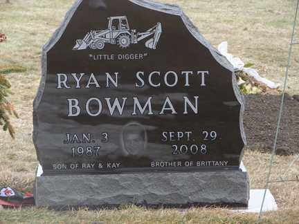 BOWMAN, RYAN SCOTT - Minnehaha County, South Dakota | RYAN SCOTT BOWMAN - South Dakota Gravestone Photos