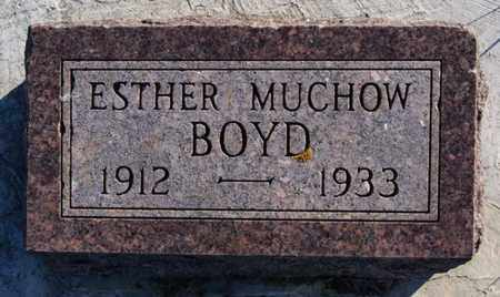 MUCHOW BOYD, ESTHER - Minnehaha County, South Dakota   ESTHER MUCHOW BOYD - South Dakota Gravestone Photos
