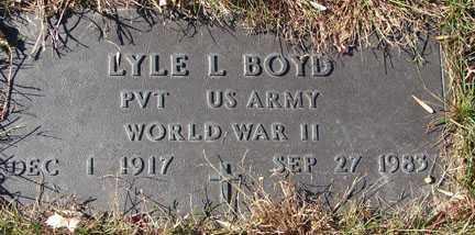 BOYD, LYLE L. - Minnehaha County, South Dakota | LYLE L. BOYD - South Dakota Gravestone Photos
