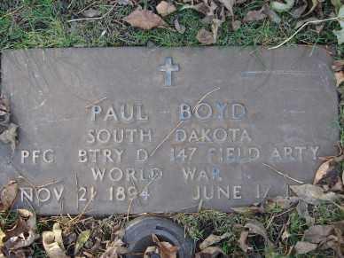 BOYD, PAUL - Minnehaha County, South Dakota   PAUL BOYD - South Dakota Gravestone Photos