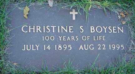 BOYSEN, CHRISTINE S. - Minnehaha County, South Dakota | CHRISTINE S. BOYSEN - South Dakota Gravestone Photos