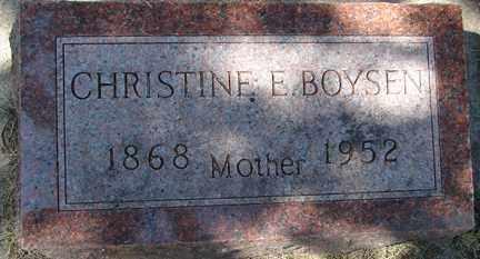 BOYSEN, CHRISTINE E. - Minnehaha County, South Dakota | CHRISTINE E. BOYSEN - South Dakota Gravestone Photos