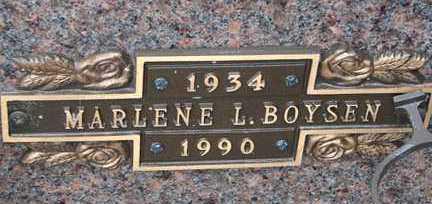 BOYSEN, MARLENE L. - Minnehaha County, South Dakota | MARLENE L. BOYSEN - South Dakota Gravestone Photos