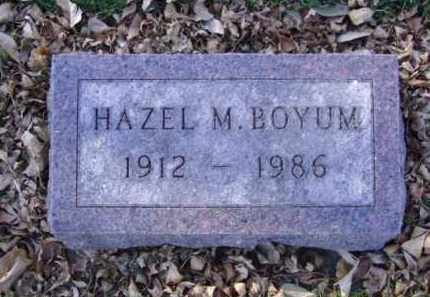 BOYUM, HAZEL M. - Minnehaha County, South Dakota | HAZEL M. BOYUM - South Dakota Gravestone Photos