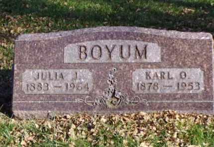 BOYUM, KARL O. - Minnehaha County, South Dakota | KARL O. BOYUM - South Dakota Gravestone Photos
