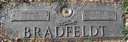 BRADFELDT, HERMAN - Minnehaha County, South Dakota | HERMAN BRADFELDT - South Dakota Gravestone Photos