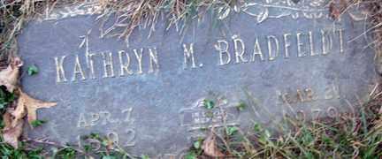 BRADFELDT, KATHRYN M. - Minnehaha County, South Dakota | KATHRYN M. BRADFELDT - South Dakota Gravestone Photos