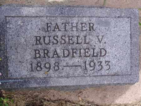 BRADFIELD, RUSSELL V. - Minnehaha County, South Dakota | RUSSELL V. BRADFIELD - South Dakota Gravestone Photos