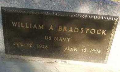 BRADSTOCK, WILLIAM A. - Minnehaha County, South Dakota | WILLIAM A. BRADSTOCK - South Dakota Gravestone Photos