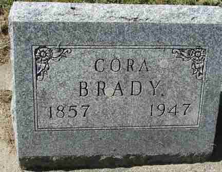 BRADY, CORA - Minnehaha County, South Dakota | CORA BRADY - South Dakota Gravestone Photos