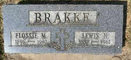 BRAKKE, FLOSSIE M. - Minnehaha County, South Dakota   FLOSSIE M. BRAKKE - South Dakota Gravestone Photos