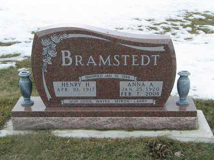 BRAMSTEDT, ANNA A. - Minnehaha County, South Dakota | ANNA A. BRAMSTEDT - South Dakota Gravestone Photos