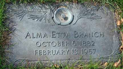 BRANCH, ALMA ETTA - Minnehaha County, South Dakota | ALMA ETTA BRANCH - South Dakota Gravestone Photos
