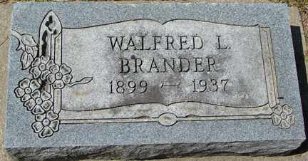 BRANDER, WALFRED L. - Minnehaha County, South Dakota | WALFRED L. BRANDER - South Dakota Gravestone Photos