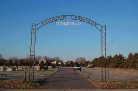 *BRANDON LUTHERAN, ENTRANCE - Minnehaha County, South Dakota | ENTRANCE *BRANDON LUTHERAN - South Dakota Gravestone Photos