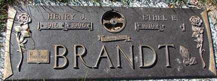 BRANDT, HENRY J. - Minnehaha County, South Dakota | HENRY J. BRANDT - South Dakota Gravestone Photos