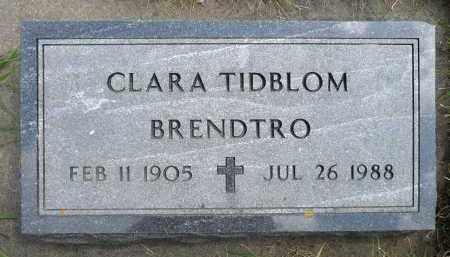 TIDBLOM BRENDTRO, CLARA - Minnehaha County, South Dakota | CLARA TIDBLOM BRENDTRO - South Dakota Gravestone Photos
