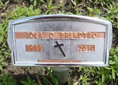 BRENDTRO, IOLA OLGA ADELINE - Minnehaha County, South Dakota | IOLA OLGA ADELINE BRENDTRO - South Dakota Gravestone Photos