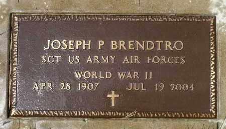 BRENDTRO, JOSEPH PALMER (WWII) - Minnehaha County, South Dakota   JOSEPH PALMER (WWII) BRENDTRO - South Dakota Gravestone Photos