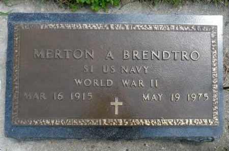 BRENDTRO, MERTON A. (WWII) - Minnehaha County, South Dakota   MERTON A. (WWII) BRENDTRO - South Dakota Gravestone Photos