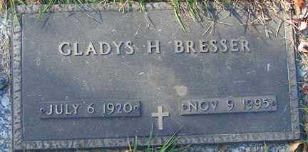 BRESSER, GLADYS H. - Minnehaha County, South Dakota   GLADYS H. BRESSER - South Dakota Gravestone Photos