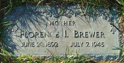 BREWER, FLORENCE I. - Minnehaha County, South Dakota | FLORENCE I. BREWER - South Dakota Gravestone Photos