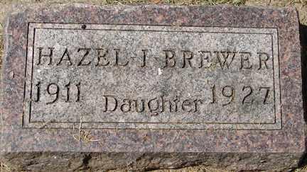 BREWER, HAZEL J. - Minnehaha County, South Dakota | HAZEL J. BREWER - South Dakota Gravestone Photos