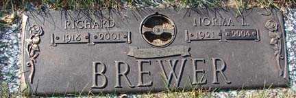 BREWER, RICHARD - Minnehaha County, South Dakota   RICHARD BREWER - South Dakota Gravestone Photos
