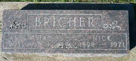 BRICHER, ANASTASIA - Minnehaha County, South Dakota | ANASTASIA BRICHER - South Dakota Gravestone Photos