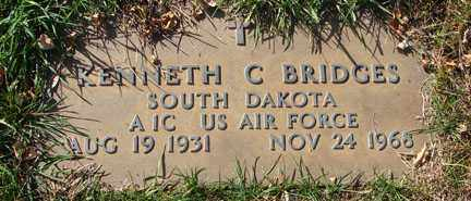 BRIDGES, KENNETH C. - Minnehaha County, South Dakota | KENNETH C. BRIDGES - South Dakota Gravestone Photos