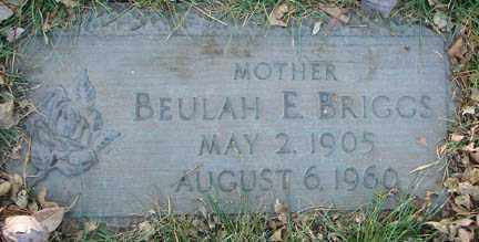 BRIGGS, BEULAH E. - Minnehaha County, South Dakota | BEULAH E. BRIGGS - South Dakota Gravestone Photos