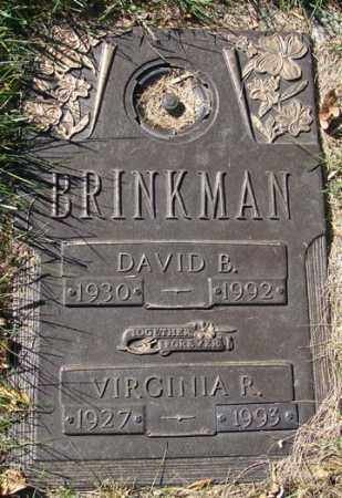 BRINKMAN, DAVID B. - Minnehaha County, South Dakota | DAVID B. BRINKMAN - South Dakota Gravestone Photos