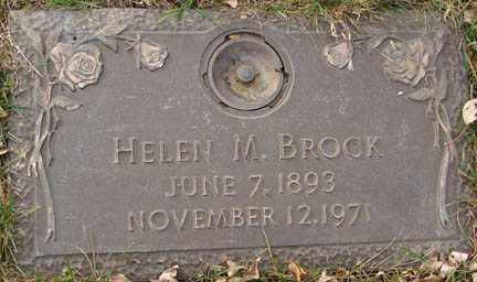 BROCK, HELEN M. - Minnehaha County, South Dakota | HELEN M. BROCK - South Dakota Gravestone Photos