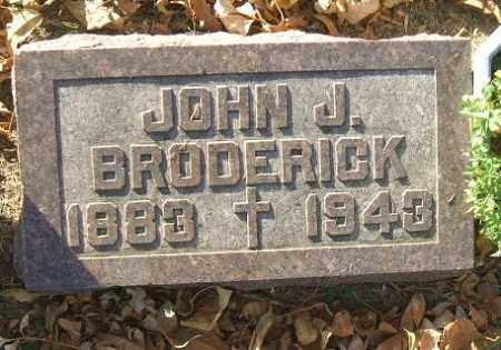BRODERICK, JOHN J. - Minnehaha County, South Dakota | JOHN J. BRODERICK - South Dakota Gravestone Photos