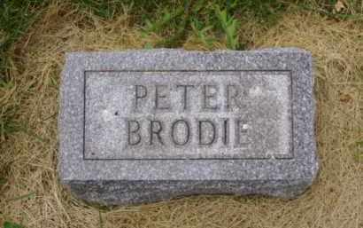 BRODIE, PETER - Minnehaha County, South Dakota | PETER BRODIE - South Dakota Gravestone Photos